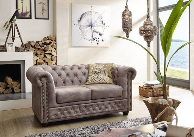 Pohovka 2M gray Chesterfield Oxford (8)