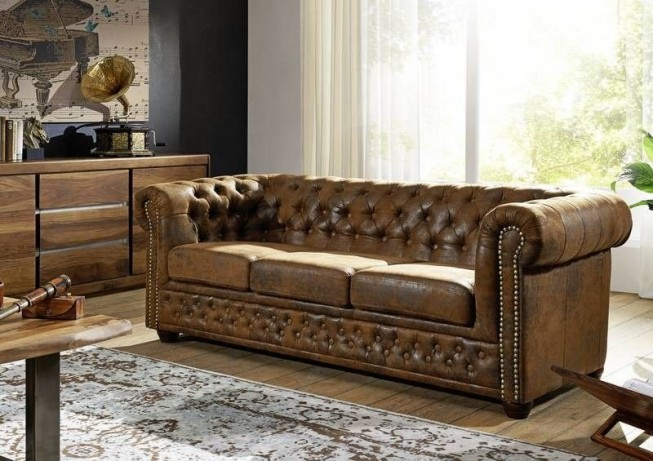 Pohovka 3M brown Chesterfield Oxford (1)