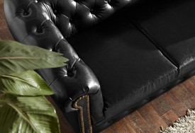 Pohovka Chesterfield Bis 3M Antique Black (3)