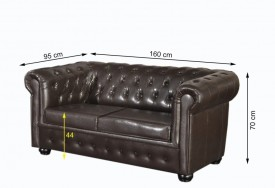 Pohovka Chesterfield Bis 2M Antique Brown (1)