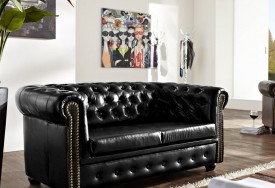 Pohovka Chesterfield Bis 2M Antique Black