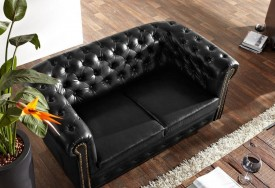 Pohovka Chesterfield Bis 2M Antique Black (5)