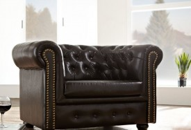 Křeslo Chesterfield Bis 1M Antique Brown