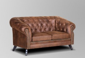 Pohovka Chesterfield Bristol 2M Tabaco 13