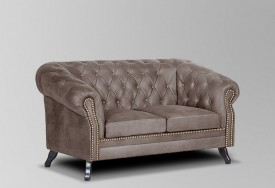 Pohovka Chesterfield Bristol 2M Tabaco 16