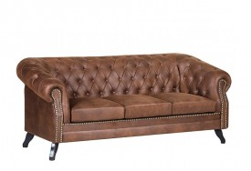Pohovka Chesterfield Bristol 3M Tabaco 13