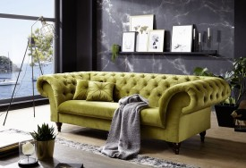 Pohovka 3M green Chesterfield Preston