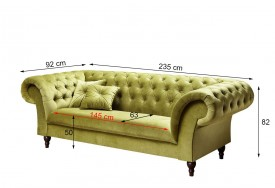 Pohovka 3M green Chesterfield Preston (5)