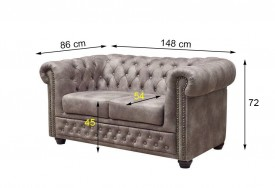 Pohovka 2M gray Chesterfield Oxford (7)