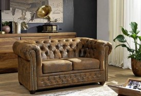 Pohovka 2M brown Chesterfield Oxford