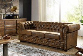 Pohovka 3M brown Chesterfield Oxford