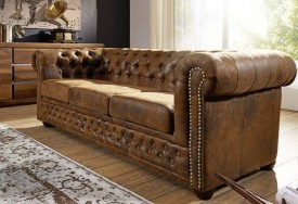 Pohovka 3M brown Chesterfield Oxford (2)