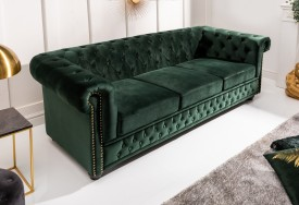 Pohovka Chesterfield Oxford 3 dark green forest (7)