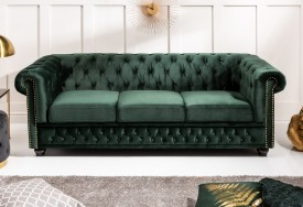 Pohovka Chesterfield Oxford 3 dark green forest (8)