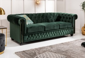 Pohovka Chesterfield Oxford 3 dark green forest