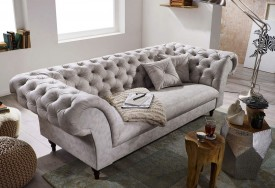 Pohovka 3M light grey Chesterfield Preston