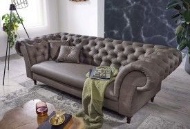 Pohovka 3M brown grey Chesterfield Preston